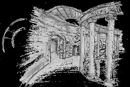 Hadrian's Villa, Tivoli. 10.04.2008